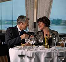 Complimentary wine, beer and soft drinks with all onboard lunches and dinners.