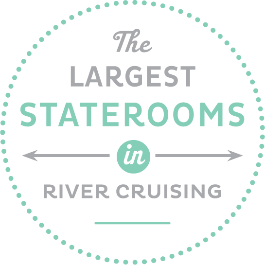 Largest staterooms in river cruising