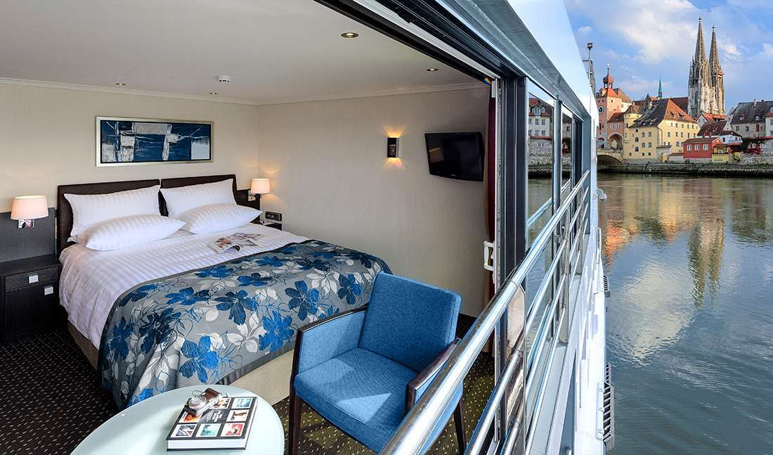 Avalon waterways suite ships european river cruises for Cruise ship balcony view