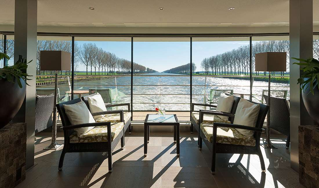 living rooms with balconies avalon waterways suite ships european river cruises